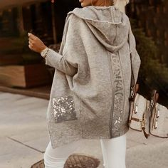 skydani Long Cardigan, Long Sleeve Sweater, Knit Cardigan, Culottes, Mode Outfits, Cardigans For Women, Women's Cardigans, Pulls, Winter Fashion Outfits