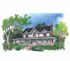 Love love this!! Eplans Farmhouse House Plan - Classic and Modern Meet - 2712 Square Feet and 4 Bedrooms(s) from Eplans - House Plan Code HWEPL07211