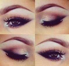 Very elegant.  Full, soft lashes.  Eyeshadow goes well with purple color scheme.