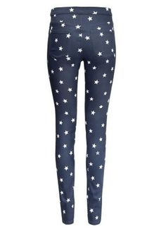 Five-pointed star pattern Pencil pants ❤❤❤
