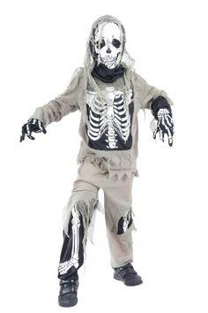 Boys Bone Jangles Skeleton Halloween Film Corpse Bride Fancy Dress Costume 7-12