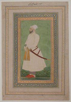 Portrait of Allahwerdi Khan, 17th century. India. The Metropolitan Museum of Art, New York. Bequest of George D. Pratt, 1935 (45.174.10) #mustache #movember