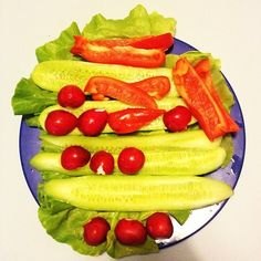Moja zielono-czerwona kolacja