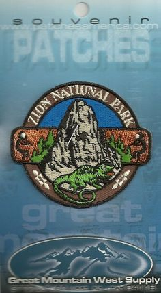Great souvenir travel patch of zion national park utah National Park Patches, Zion National Park, National Parks, Best Travel Backpack, New Travel, Travel Patches, Travel Drawing, Travel Wallpaper