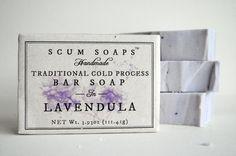 Lavandula Traditional Cold Process Bar Soap Lavender di ScumSoaps