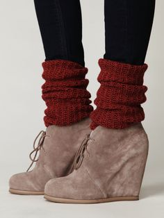 Love these shoes. Love the sock and heel combo. Love the cranberry color.
