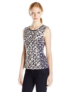 NIC+ZOE Women's Fractured Squares Top - http://www.darrenblogs.com/2016/08/niczoe-womens-fractured-squares-top/
