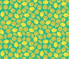 Lemons fabric by happygoluckycreations on Spoonflower - custom fabric