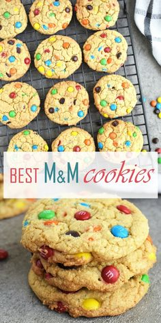 Frugal Food Items - How To Prepare Dinner And Luxuriate In Delightful Meals Without Having Shelling Out A Fortune Best M&M Cookies: Chewy And Soft On The Inside, Crispy Edges And Loaded With M&Ms. They Taste Like True Homemade Cookies # Cookie Recipes From Scratch, Delicious Cookie Recipes, Best Cookie Recipes, Best Dessert Recipes, Baking Recipes, Candy Recipes, Recipes Dinner, M M Cookies, Yummy Cookies