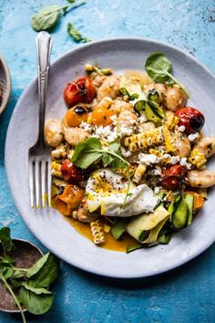 Lower Excess Fat Rooster Recipes That Basically Prime Simple Summer Tomato Pesto And Grilled Corn Gnocchi Hbharvest Gnocchi Recipes, Pasta Recipes, Salad Recipes, Dinner Recipes, Cooking Recipes, Healthy Recipes, Dinner Ideas, Coctails Recipes, Cooking Kale