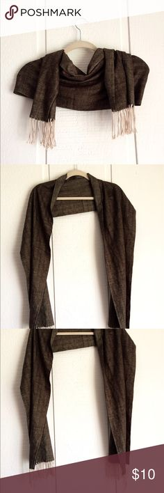 Soft Fringe Scarf This scarf is SUPER soft and very stylish! Made of 20% cashmere. Great basic for the fall/winter season. Italy Design Accessories Scarves & Wraps