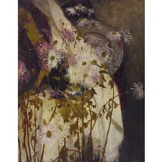 Louis Comfort Tiffany STILL LIFE WITH CHRYSANTHEMUMS