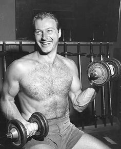 Former Tarzan star Lex Barker keeping in shape