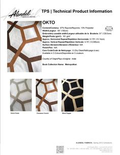 Alendel Fabrics OKTO TPS | Technical Product Information Sheet