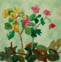 Cinquefoil & Geranium a Downoadable Pattern from A Walk in the Mountains Block of the Month