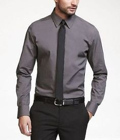 Joel is going to look like a stud in this grey shirt for Express shirt and tie