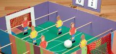 Como hacer un futbolin realizando manualidades para niños