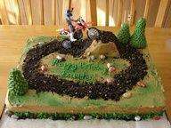Dirt Bike Birthday Cake Idea
