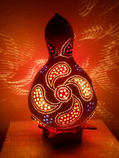 paisley gourd lamp