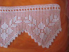 Knit and Crochet Free Pattern Filet Crochet, Crochet Lace Edging, Crochet Borders, Crochet Squares, Crochet Trim, Love Crochet, Crochet Doilies, Knit Crochet, Yarn Crafts