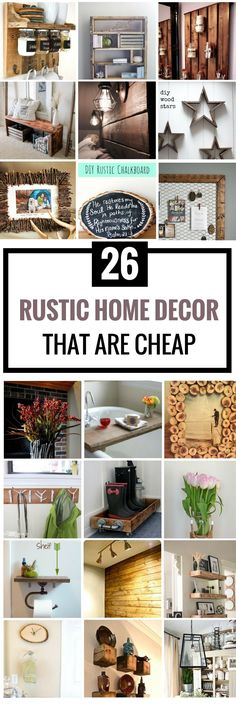 Are you looking for some DIY Rustic Home Decor Ideas to add in your collection? This handpicked 25+ Rustic decor ideas will do the trick for you! Enjoy… #cheaphomedecor