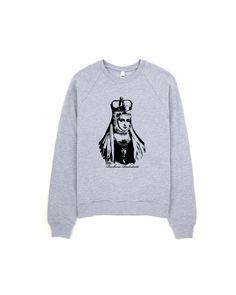 Barbora Radvilaite women sweatshirt girlfriend gift by MONOFACES Grey Sweatshirt, Graphic Sweatshirt, Girlfriend Gift, Hipster Outfits, Girlfriends, Crew Neck, Faces, Trending Outfits, Sweatshirts