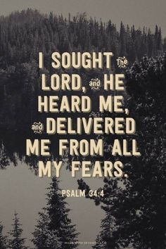 Bible Verses to Live By: i sought lord and he heard me and delivered me from all my feaars