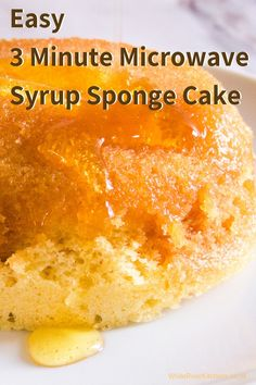 Make a Syrup Sponge - 3 Minute Microwave Sponge Cake - Sponge Cake Recipes, Mug Recipes, Pudding Recipes, Sweet Recipes, Baking Recipes, Dessert Recipes, Sponge Recipe, Mince Recipes, Microwave Sponge Cake