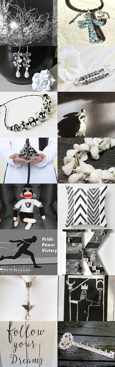 Black and White Dreams by riagr on Etsy--Pinned+with+TreasuryPin.com