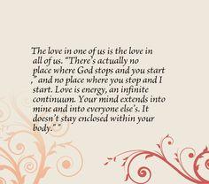 the love in one of us is the love in all of us there s actually