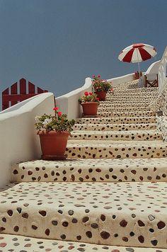 Steps on Santorini - ASPEN CREEK TRAVEL - karen@aspencreektravel.com