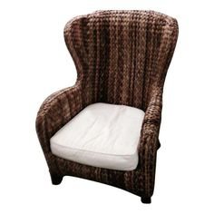 Pottery Barn Seagrass Wicker Wingback Chair