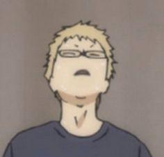 Haikyuu Tsukishima, Haikyuu Funny, Anime In, Anime Meme Face, Anime Expressions, Volleyball Anime, Funny Anime Pics, Haikyuu Wallpaper, Anime Stickers