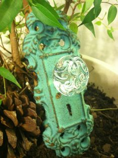 Wall Hook Wall Hanger Shabby Chic Vintage Mint by LaBellasCottage, $11.50