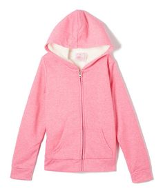 Look what I found on #zulily! Fandango Pink Fleece-Lined Zip-Up Hoodie - Girls #zulilyfinds