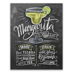 Margarita Recipe - Print #cocktail #Food #Kitchen