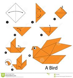 How To Origami Step By Step Step Step Instructions How To Make Origami A Wild Duck Stock. How To Origami Step By Step Step Step Instructions How To Make Origami Vector Image. How To Origami Step By Step Step Step Instructions How To Make Origami. Origami Rose, Origami Bird Easy, Gato Origami, Instruções Origami, Kids Origami, Origami Ball, How To Make Origami, Useful Origami, Paper Crafts Origami