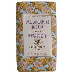 Crabtree & Evelyn 'Almond Milk & Honey' Triple Milled Soap ($10) ❤ liked on Polyvore featuring beauty products, bath & body products, body cleansers, fillers, beauty, makeup, decor, soap, no color and crabtree & evelyn