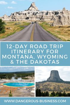 A Road Trip Itinerary for Montana, Wyoming, and the Dakotas R. - A Road Trip Itinerary for Montana, Wyoming, and the Dakotas Road Trip Itinerary: - Road Trip Usa, Family Road Trips, Family Travel, Road Trip National Parks, Summer Road Trips, Best Road Trips, Road Trip Kids, Arizona National Parks, New Mexico Road Trip