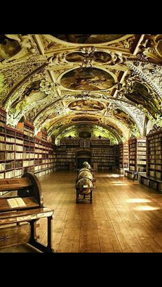 Library of Strahov Monastery, Prague.