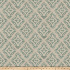 Isabelle De Borchgrave Pomer Jacquard Teal from @fabricdotcom  Refresh and modernize an old piece of furniture and update it with a new look. This heavyweight jacquard upholstery fabric is appropriate for accent pillows, upholstering furniture, headboards and ottomans. This fabric has 15,000 double rubs. Colors include teal blue and pale silvery white.