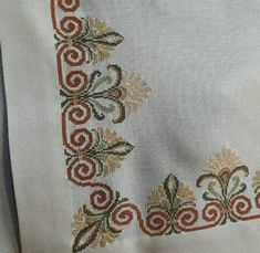 table runner fabulous stitching i Cross Stitch Hoop, Just Cross Stitch, Cross Stitch Borders, Cross Stitch Designs, Cross Stitching, Cross Stitch Patterns, Embroidery Patterns Free, Hand Embroidery Designs, Ribbon Embroidery