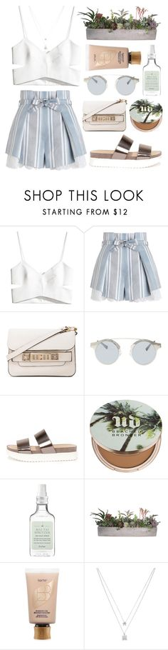 """Relax"" by shanelala ❤ liked on Polyvore featuring H&M, Zimmermann, Proenza Schouler, Forever 21, Wanted, Urban Decay, Drybar, tarte and Betsey Johnson"