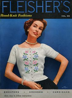 1950 Fleishers Vintage Knitting Patterns, via Flickr.