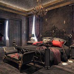 bedroom gothic decor bedrooms goth modern room pink dream instagram rooms designs