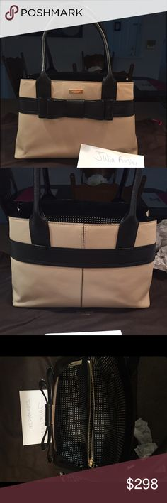 Kate Spade Villabella Avenue Elena Black and Tan Been used three times and is in perfect condition except for a few wrinkles on the bottom corners. Comes with original dust bag and tissue paper fillers! Kate Spade Bags Satchels