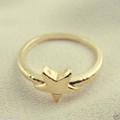 Size 6.5 Golden Tone Alloy Star Cute Ring Jewelry Decor Charm 37924 1PC