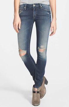 MOTHER Women's The Looker Skinny Jeans in Tarnished, Ripped and Destroyed - Sizes 28 & 29 Ripped Jeans, Skinny Jeans, Mother Denim, Winter Fashion, Nordstrom, Cosmopolitan, Winter Style, My Style, Pants