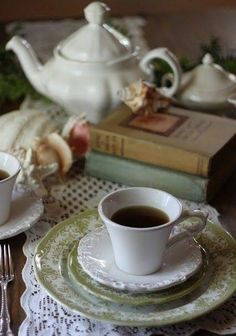 Tea; The absolutly perfect guest for afternoon TEA - - - A BOOK!