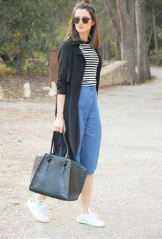 #denim #culotte #casual